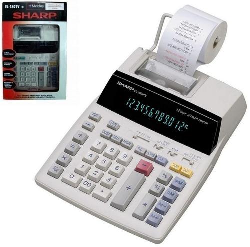 calculadora eletrônica el-1801v sharp original imprime c/ nf