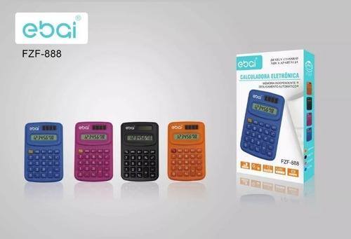 calculadora eletronica cores variadas memoria independente