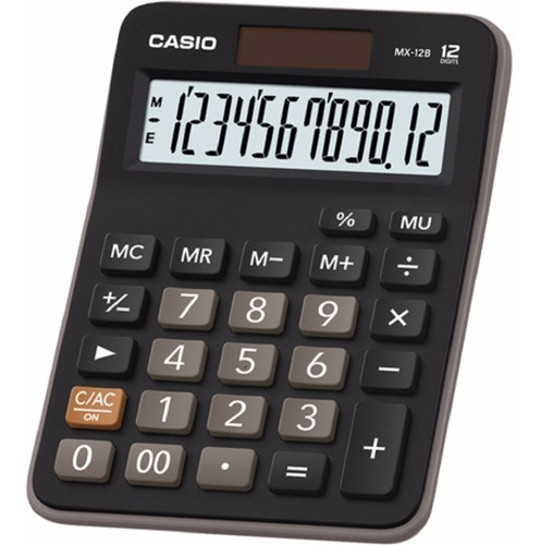 calculadora escritorio casio mx-12b negra 12 digitos