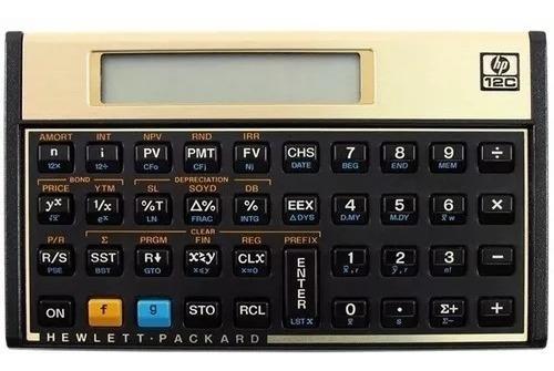 calculadora financeira hp 12c gold original com capa + nota