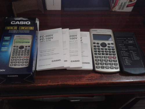 calculadora financiera casio fc-100v nueva dorada