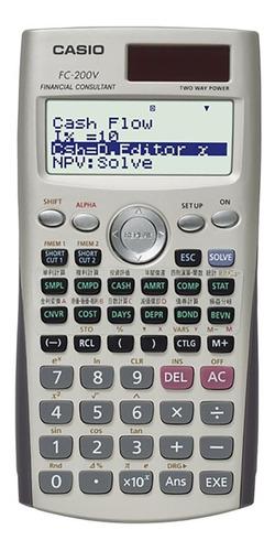 calculadora financiera casio fc-200v garantia oficial 2 años