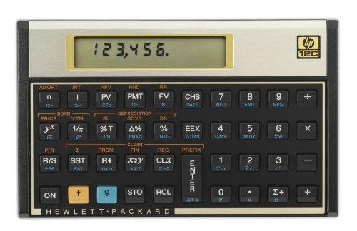 calculadora financiera hewlett-packard 12c 12c lcd de 10 dí