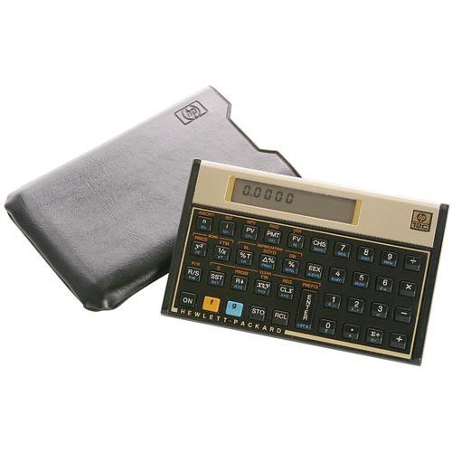 calculadora financiera hp 12c, mejor que nueva con forro