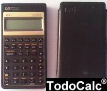 calculadora financiera hp 17bii 17b2  forro en buen estado