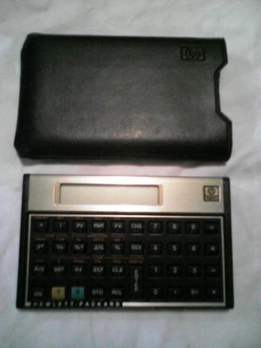 calculadora financiera hp con estuche usada