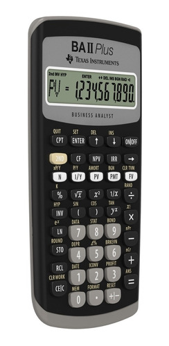 calculadora financiera texas instruments baii plus. sellada