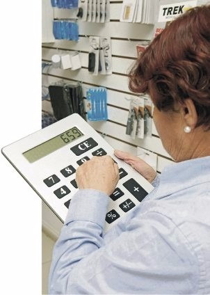 calculadora gigante ideal para comercios oficinas ypt