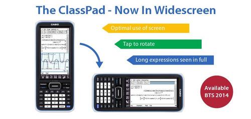 calculadora grafica casio classpad ii fx-cp400 a color nueva