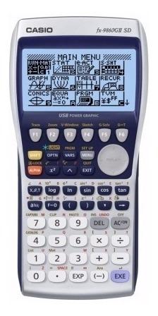calculadora grafica casio fx-9860gii slot p/ mem sd