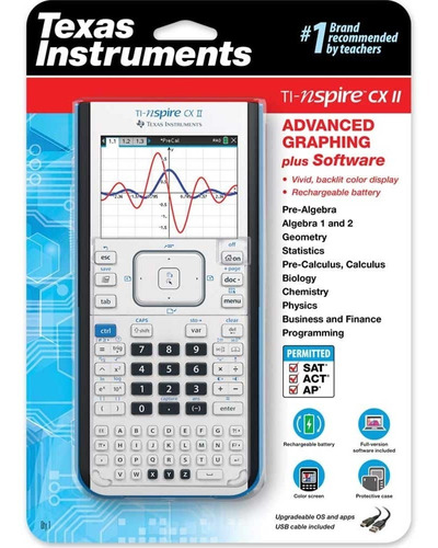 calculadora grafica texas instruments ti-nspire cx 2 nueva