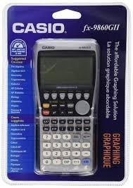 calculadora graficadora casio fx- 9860 gii para tarjeta sd