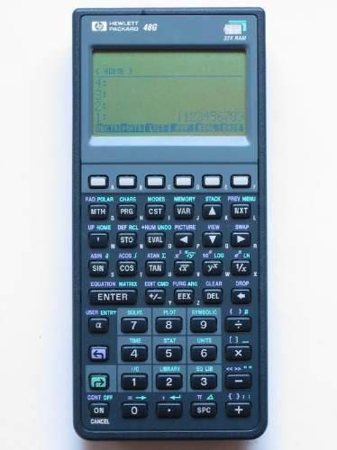 calculadora graficadora hewlett packard 48 g