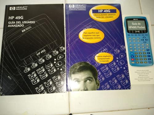 calculadora graficadora hp 49g  con cables , y manuales.