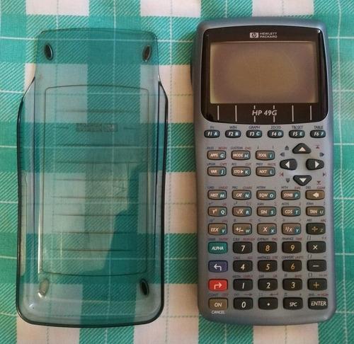 calculadora graficadora hp 49g, pantalla deficiente (oscura)