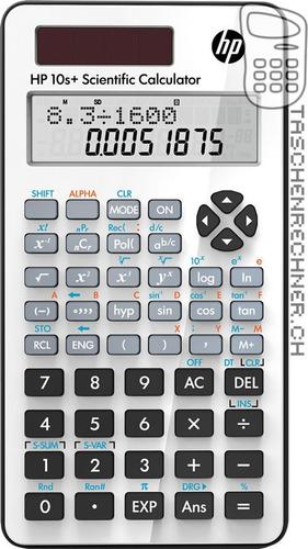 calculadora hp 10s+ original 240 funções - 12 dígitos