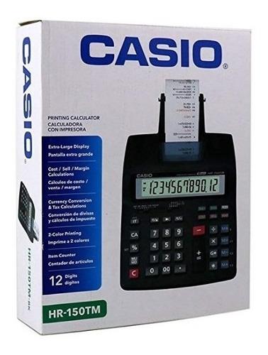 calculadora impresora casio hr-150tm