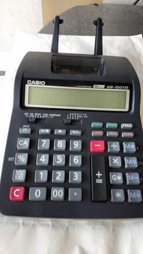 calculadora impresora portatil casio