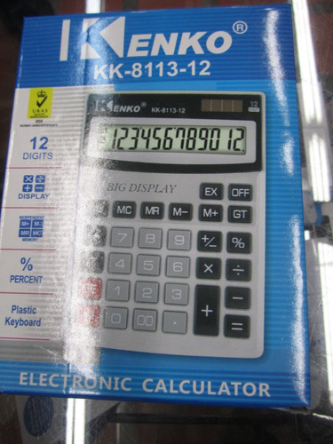 calculadora kenko de 12 digitos 8113