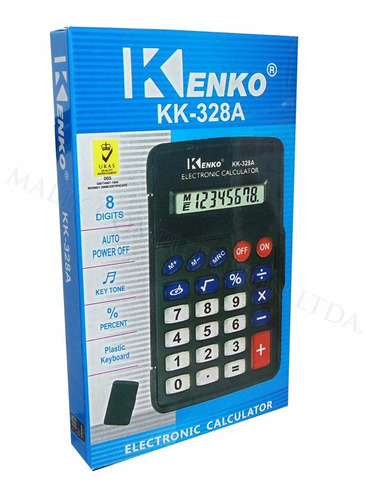 calculadora kenko pequeña basica numeros grandes liviana