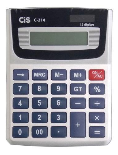 calculadora mesa 12 digitos c214 cis solar/bateria