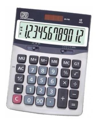calculadora neo one 1753 12 digitos solar y bateria