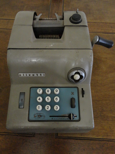 calculadora olivetti maquina de sumar antigua