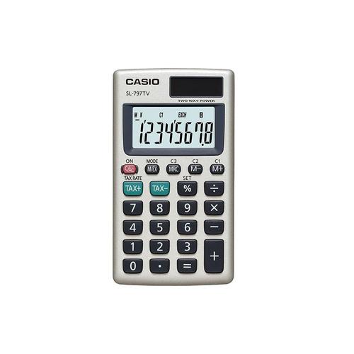 calculadora portátil casio sl-797tv-gd dorado