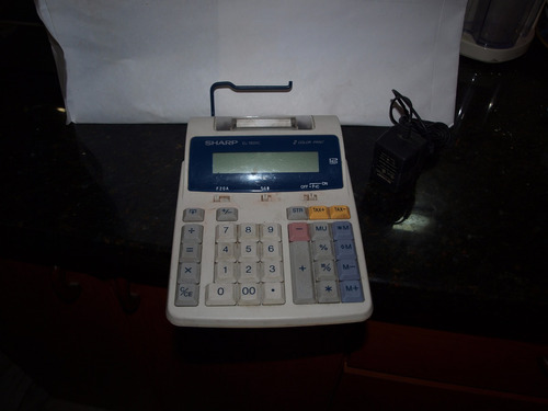 calculadora sharp  el1801 2 color print de 12 dig.