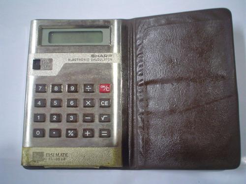 calculadora sharp elsi mate el-8028 estuche cartera