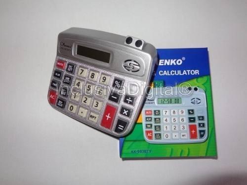 calculadora sonora de mesa com voz em português kk-9838ty
