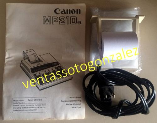 calculadora sumadora canon 12 dígitos 2 colores (10v)