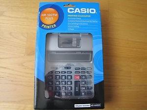 calculadora sumadora casio hr-100tm 12 dig con adaptador bic
