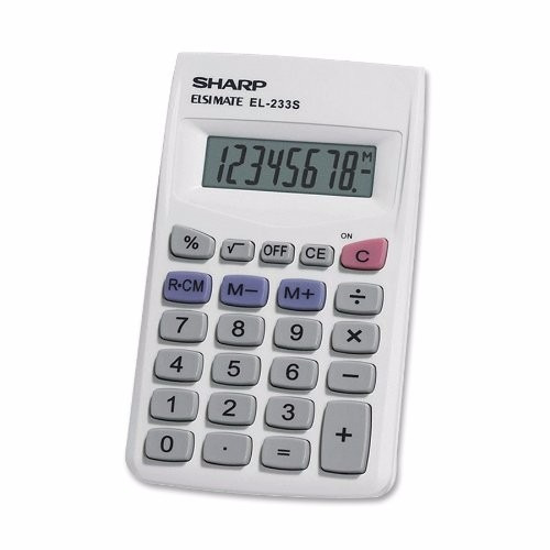 calculadora sumadora sharp 8 digitos 4 x 2.5 pulg
