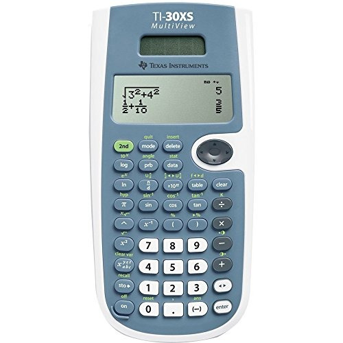 calculadora texas instruments ti30xsmvlimegrn azul y blanco