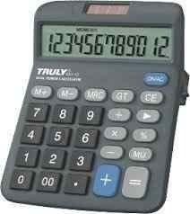 calculadora truly 833-12 original com garantia com 5 unidade