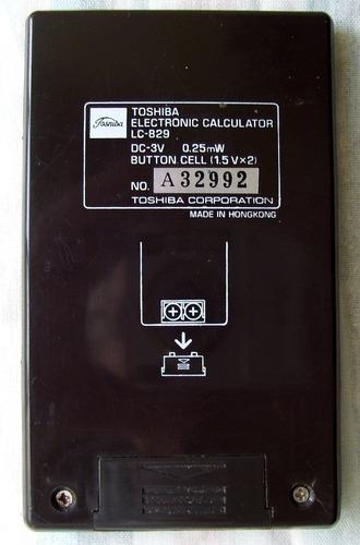 calculadora vintage años 70 toshiba lc-829 funcionando
