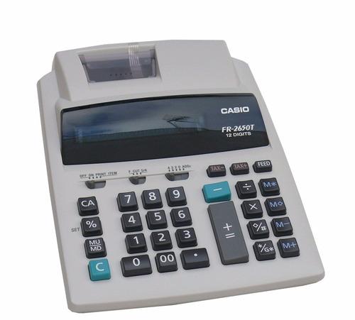 calculadoras casio con rollo fr 2650 t nuevas importadora