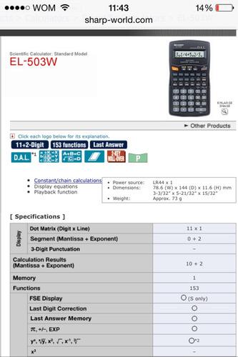 calculadoras sharp científicas nueva www.sharp-world.com/pro
