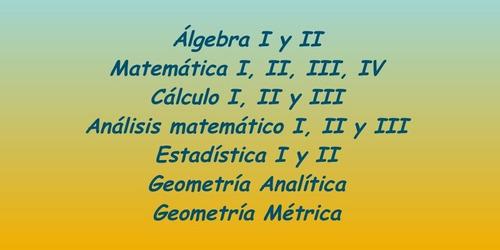 cálculo, estadística, álgebra, matemática  para economistas
