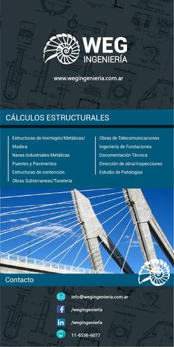 cálculo estructural -  weg ingeniería