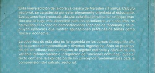 cálculo vectorial anthony tromba jerrold marsden