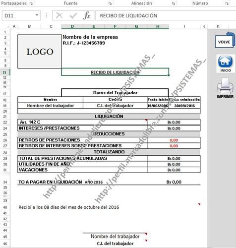 calculos de prestaciones sociales, liquidacion lottt vigente