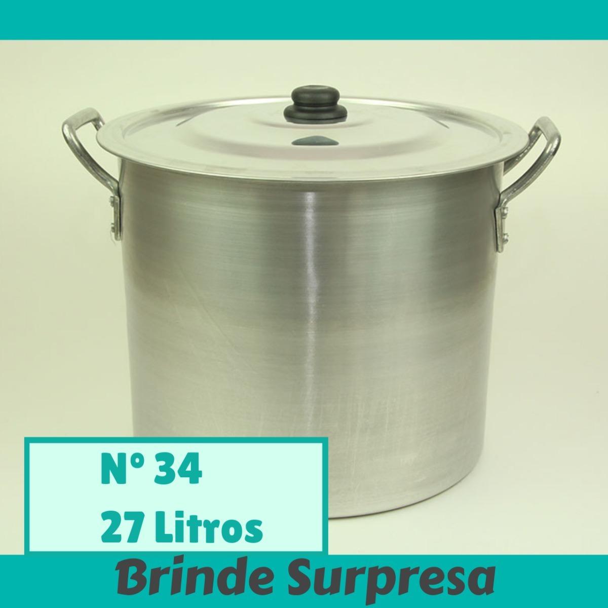 Caldeir O Industrial Panel O De Alum Nio De 27 Litros N 34 R 92