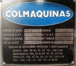 caldera colmaquinas 125 bhp-150psig dual