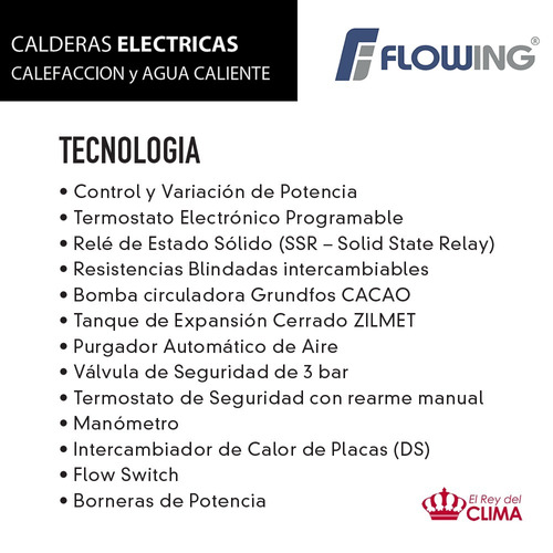 caldera eléctrica flowing sc-10 advance black envio s/cargo