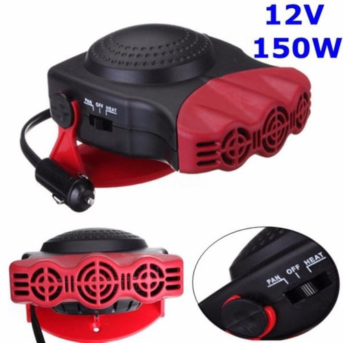 calefactor automovil 12v 150w ventilador calentador