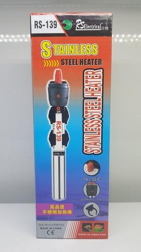 calefactor calentador 25w rs sumergible acero inox.  pecera