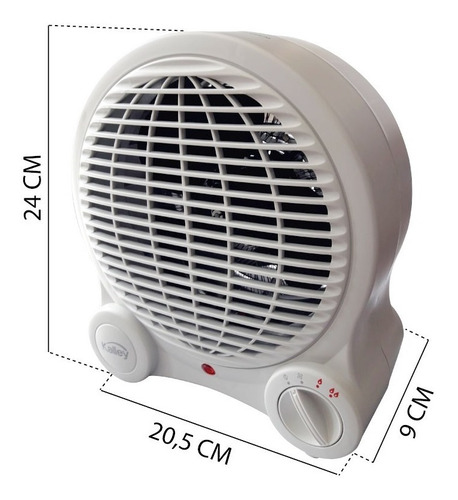 calefactor calentador ambiente kalley k-ca18 calor frio
