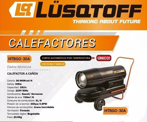 calefactor cañon galpon 26000kcal kerosene gasoil lusqtoff